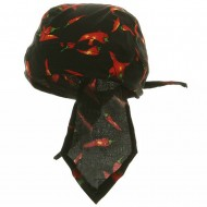 Novelty Series Headwraps-Chili Peppers