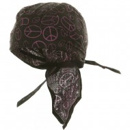 Novelty Series Headwraps-Peace Sign