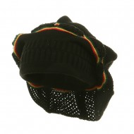 New Rasta Knitted without Brim Hat - Black RGY