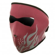 Neoprene Full Face Mask - Pink Flames