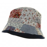 Reversible Flower Bucket Hat - Blue