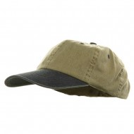Youth Pigment Dyed Washed Cap - Khaki Navy