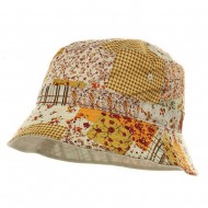 Reversible Flower Bucket Hat - Gold