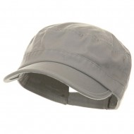 Pet Spun Washed Army Cap - Grey