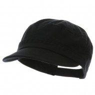 Pet Spun Washed Army Cap - Black