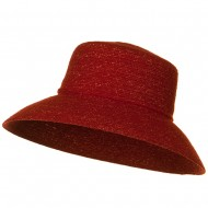 Sewn Braid Winter Fashion Hat - Red