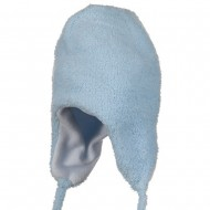 Infant Chenille Trooper Hat - Powder Blue