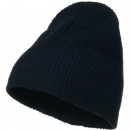 Eco Cotton Ribbed XL Classic Beanie - Navy