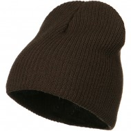Eco Cotton Ribbed XL Classic Beanie - Brown