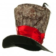 Top Hat - Brown Red