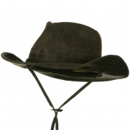 UPF 50+ Weathered Cotton Outback Hat - Brown