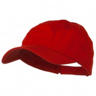 6 Panel Washed Polo Cap - Red