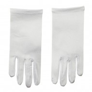 9 inch Glove Nylon Stretch - White