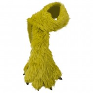 Critter Animal Faux Fur Scarf with Paw - Lime