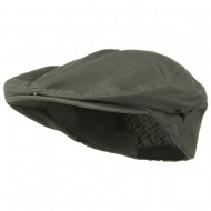 Oversize Washed Canvas Ivy Cap - Dark Grey