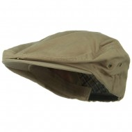 Oversize Washed Canvas Ivy Cap - Khaki