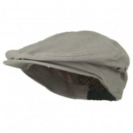 Oversize Washed Canvas Ivy Cap - Light Grey