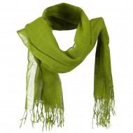 Solid Viscose Long Scarf - Lime