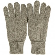 Suede Leather Palm Wool Glove - Oatmeal