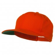 Wool Blend Prostyle Snapback Cap - Orange