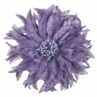 Silk Flower Point Leave Pin and Clip - Light Lilac