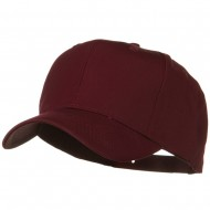 Solid Cotton Twill Pro Style Cap - Burgundy