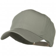 Solid Cotton Twill Pro Style Cap - Grey