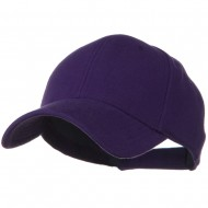 Comfy Cotton Pique Knit Low Profile Cap - Purple
