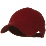 Comfy Cotton Pique Knit Low Profile Cap - Burgundy