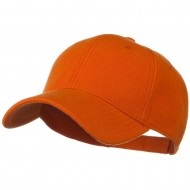 Comfy Cotton Pique Knit Low Profile Cap - Orange