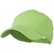 Comfy Cotton Pique Knit Low Profile Cap - Lime
