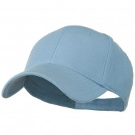 Comfy Cotton Pique Knit Low Profile Cap - Light Blue