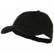 Deluxe Garment Washed Cotton Twill Cap - Black