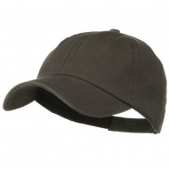 Deluxe Garment Washed Cotton Twill Cap - Charcoal Grey