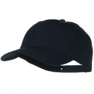 Solid Cotton Twill Low Profile Snap Cap - Navy