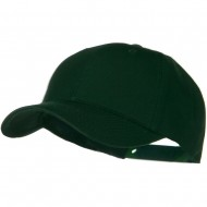 Solid Cotton Twill Low Profile Snap Cap - Dark Green