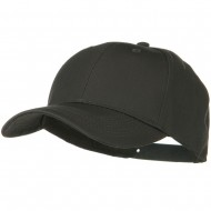 Solid Cotton Twill Low Profile Snap Cap - Charcoal Grey