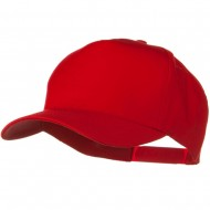 Solid Cotton Twill 5 Panel Prostyle Snap Cap - Red