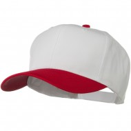 Two Tone Cotton Twill Pro Style Cap - Red White