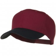 Two Tone Cotton Twill Pro Style Cap - Navy Burgundy