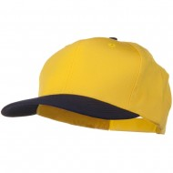 Two Tone Cotton Twill Pro Style Cap - Navy Yellow
