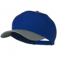 Two Tone Cotton Twill Pro Style Cap - Grey Royal