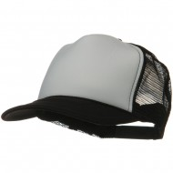 Two Tone Polyester 5 Panel Foam Front Mesh Back Cap - Black White