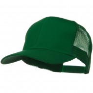 Solid Cotton Twill Mesh Prostyle Cap - Kelly