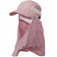 UV 50+ Talson Removable Flap Cap - Pink