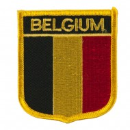 Europe Flag Embroidered Patch Shield - Belgium