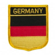 Europe Flag Embroidered Patch Shield - Germany