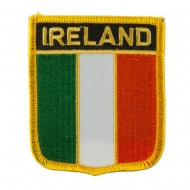 Europe Flag Embroidered Patch Shield - Ireland