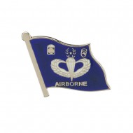 US Army Airborne Cloisonne Military Pins - Flag