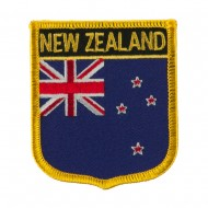Europe Flag Embroidered Patch Shield - New Zealand
